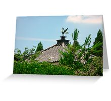 Phoenix on a Temple Roof Greeting Card