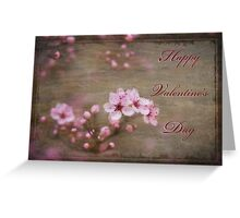 Blossoms of Valentine Greetings Greeting Card