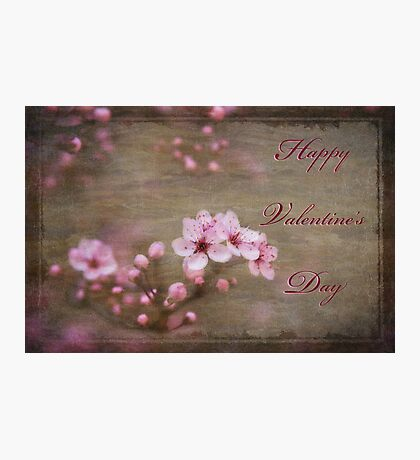 Blossoms of Valentine Greetings Photographic Print