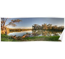 Rivers Bend (Panoramic) - Murray River ,Albury , NSW - The HDR Experience Poster