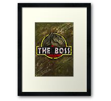 T-Rex the Boss Framed Print