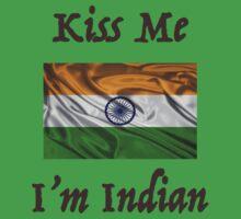 Kiss Me I'm Indian Kids Tee