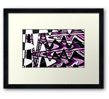 Pink Abstract Waves Wall Art Framed Print