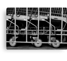Trolley corral. Canvas Print
