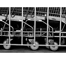 Trolley corral. Photographic Print