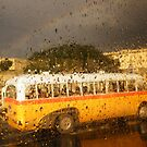 Rainy Day Bus Ride In Malta by Graham Kidd