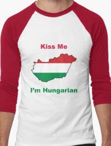 Kiss Me I'm Hungarian Men's Baseball ¾ T-Shirt