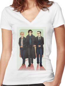 Baker Street BAMFS Women's Fitted V-Neck T-Shirt
