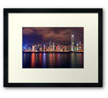 The Amazing Hong Kong Skyline. Framed Print
