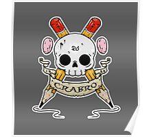 Crabro Skull Poster