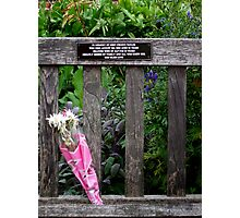 In Memory Of Gert Photographic Print