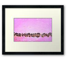 Dawn on the Rocks Framed Print