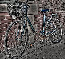 Bike with Basket. by Nigel Butterfield