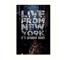 Live From New York, Saturday Night Live Art Print