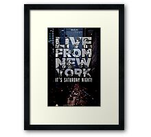 Live From New York, Saturday Night Live Framed Print