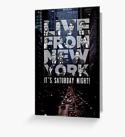 Live From New York, Saturday Night Live Greeting Card