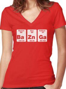 Ba Zn Ga Women's Fitted V-Neck T-Shirt