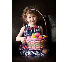 Easter Girl Photographic Print