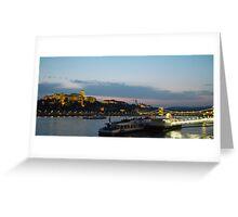 Danube at Night Greeting Card