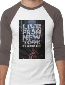 Live From New York, Saturday Night Live Men's Baseball ¾ T-Shirt