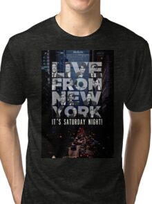 Live From New York, Saturday Night Live Tri-blend T-Shirt