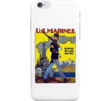 U.S. Marines -- Service On Land And Sea iPhone Case/Skin