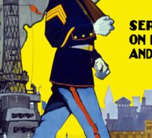 U.S. Marines -- Service On Land And Sea Sticker