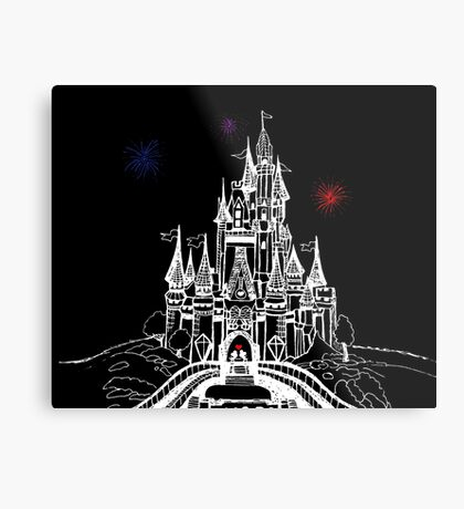 Mouse in Love at Midnight Metal Print