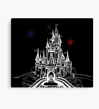 Mouse in Love at Midnight Canvas Print