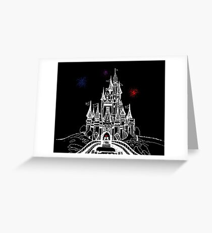 Mouse in Love at Midnight Greeting Card