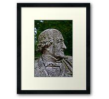 Middleheim Sculpture Park, Antwerp, Belgium - Stone bust of a man Framed Print
