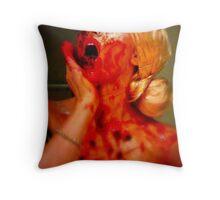 Beetroot Face Throw Pillow