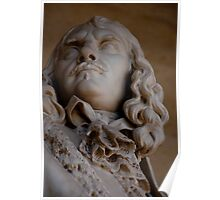 Statue of a man at Versailles Palace, France Poster