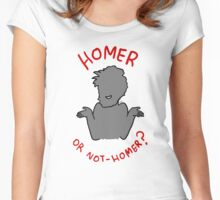 Homer or not-Homer? Women's Fitted Scoop T-Shirt