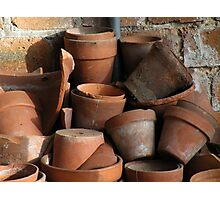 Flower pots Photographic Print