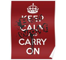 Keep Calm and Carry On - Bad Wolf Poster