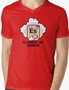 Einstein, Witty Geek Mens V-Neck T-Shirt