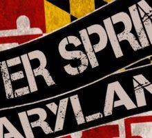 Silver Spring Maryland grunge scroll circle Sticker