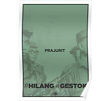 #Hilang #Gestok (Prajurit/Soldier) Poster