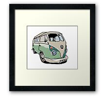 Vw splitty  Framed Print