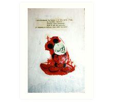 DEAD BONES OF THE INFAMOUS MOUSE Art Print