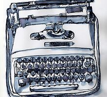 loveable typewriter by smallishfish
