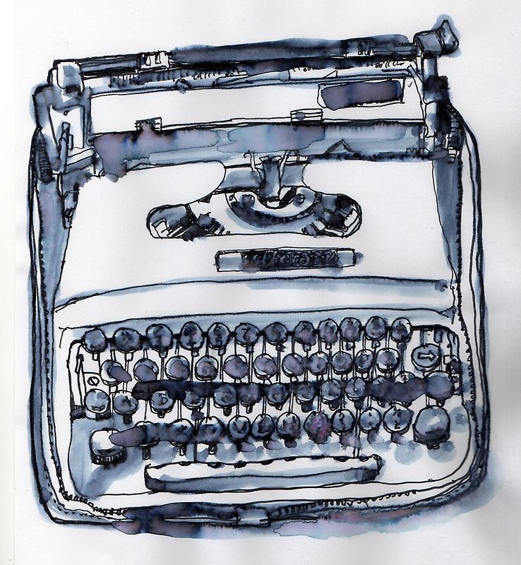 loveable typewriter by smallishfish
