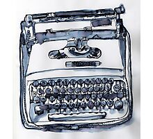 loveable typewriter Photographic Print
