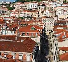 Lisbon cityscape with Sao Jorge Castle by luissantos84