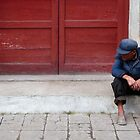 Old man in Mao suit, Chengu, Shaanxi by EricKuns