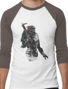 A busy Turian Men's Baseball ¾ T-Shirt