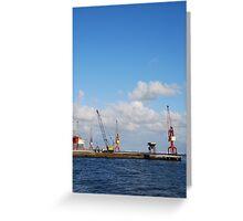 Shipyard in Lisbon Greeting Card