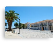 Famous square in Cascais Canvas Print