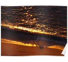 Sun Reflections and Shade of a Wave - Reflecciones de Sol y Sombra de una Ola Poster
